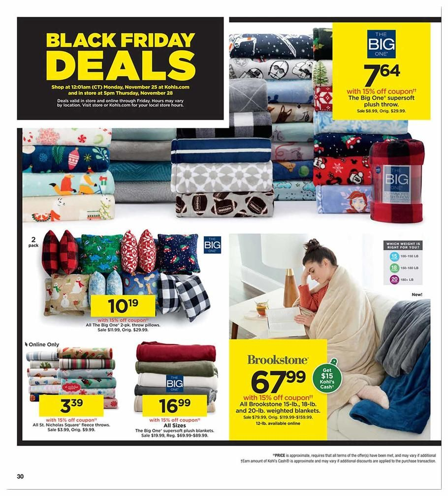 Kohls Black Friday Ad Scan Deals And Sales 2019 Kohls Black Friday Black Friday Ads Black Friday