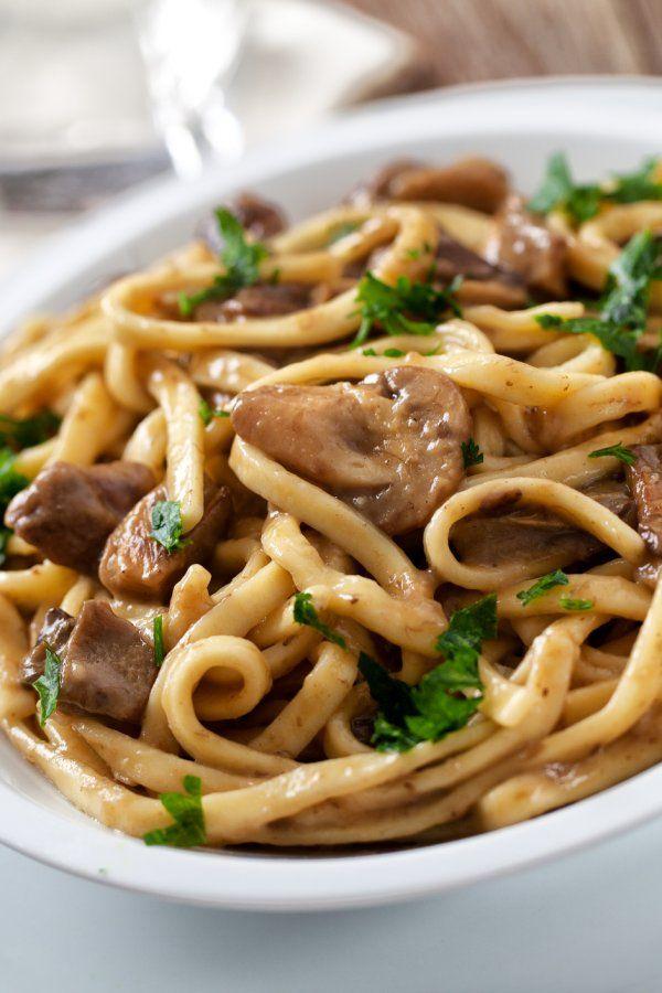Aromatische Bärlauch-Spaghetti mit Champignons #cookiesalad