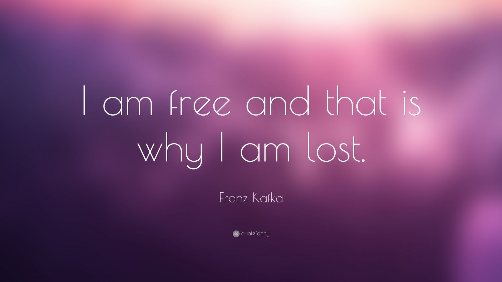 Franz Kafka Quote I Am Free And That Is Why I Am Lost Quotes