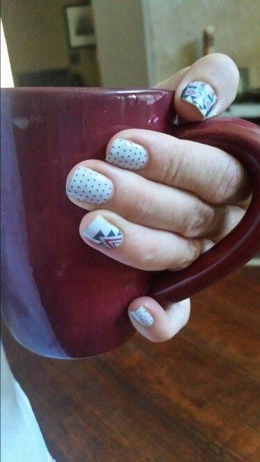 Jamberry nail art manicure pedicure designs- swiss dot, June style box