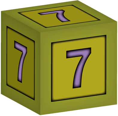 3d Building Block Letter 7 Baby Building Blocks Baby Blocks Graphic Design Resources