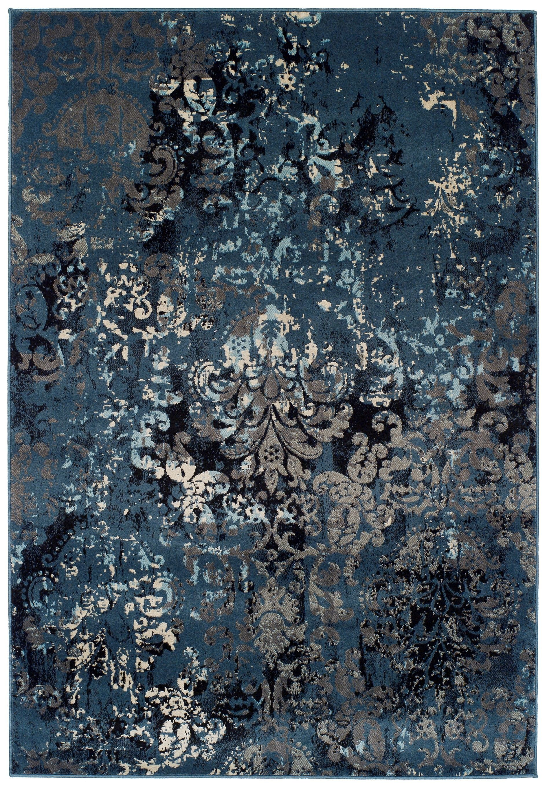 Washed Denim Copper Rug