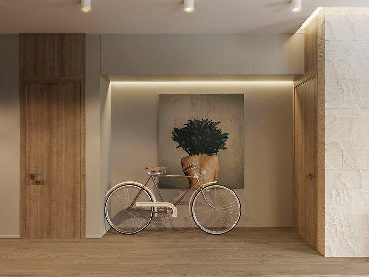 Arredamento soggiorno moderno design con pareti di colore grigio e ...