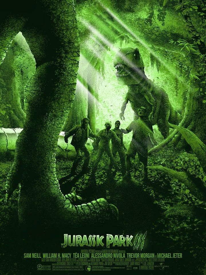 Jurassic Park 3 by Patrick Connan Carteles de películas