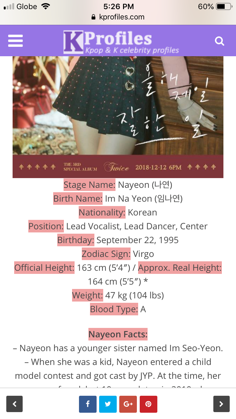 "Pin By ̕"" ̝´ìŠ¬ë¦° On Twice Stage Name Zodiac Signs Nayeon Many of them went viral and were remembered in the kpop history. pinterest"