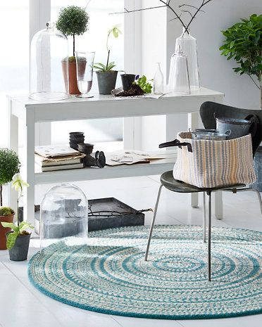 Our round Fair Isle Hooked Wool Rug features bands of Highland style designs. An easy update for any room in your house in a variety of colors.