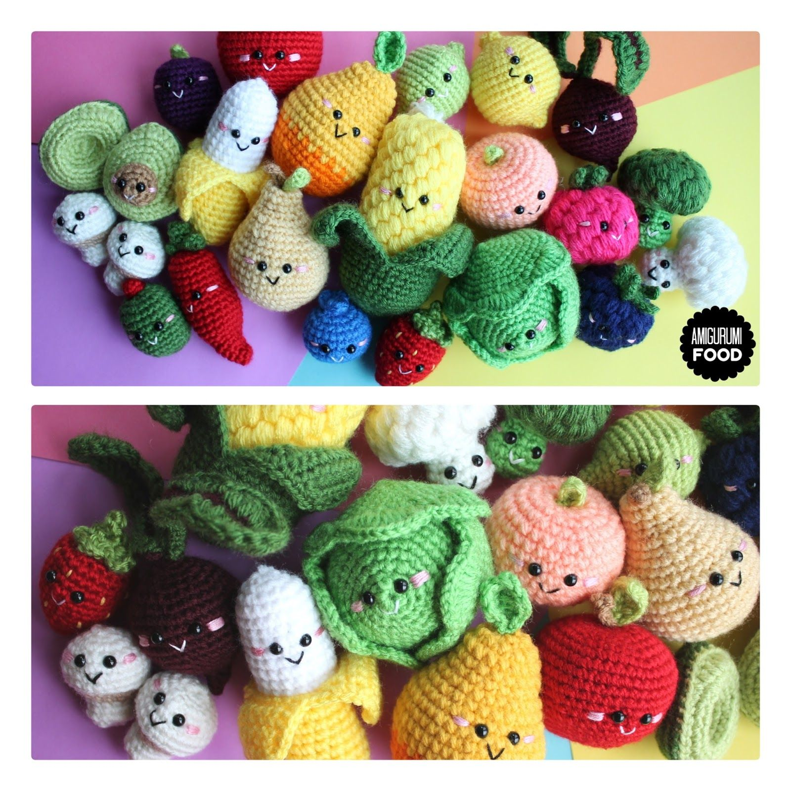 Amigurumi Food Crochet Free Pattern Fruits And Vegetables Crochet