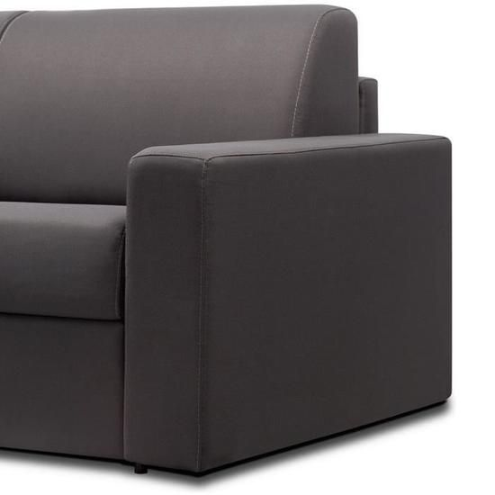 Italian Spirit Canape Convertible 3 Places Rapido Midnight Tweed Gris Anthracite Couchage 140 Cm Sofa S