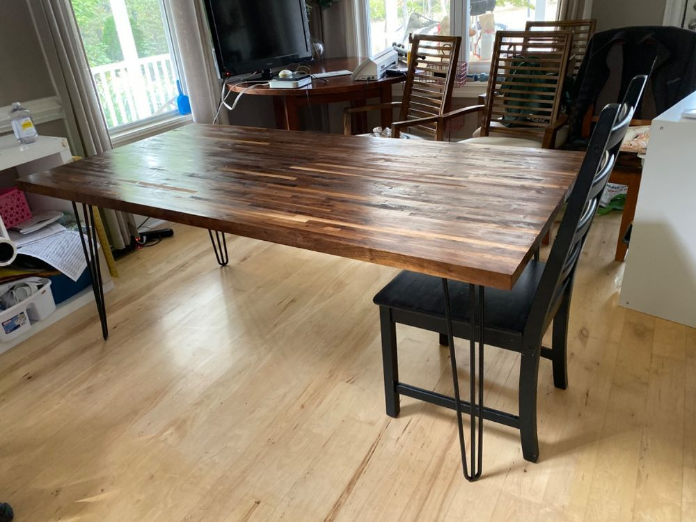 30 Minutes to Make This DIY Butcher Block Table With