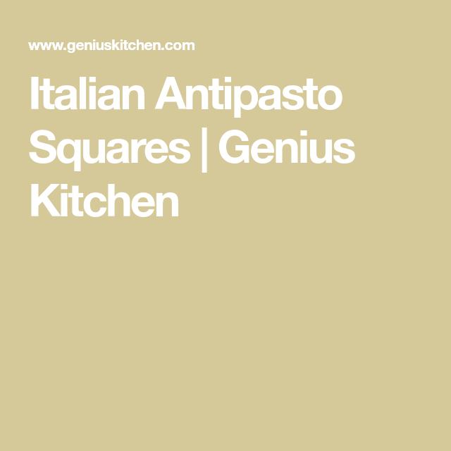 Italian Antipasto Squares #antipastosquares