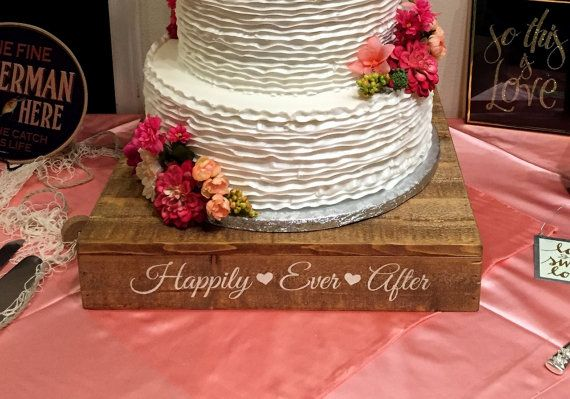 The rustic wedding cake stand would make a beautiful addition to your rustic or country wedding decor.