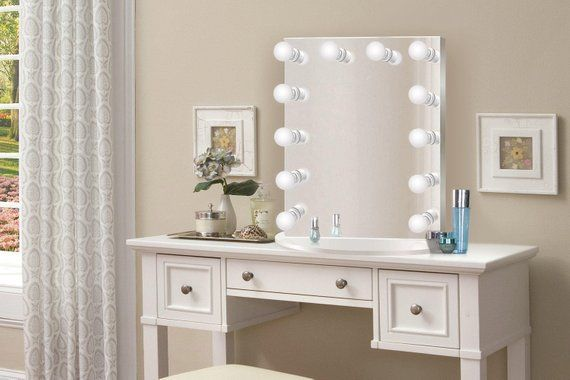 Hollywood 25 X 31 Lighted Vanity Mirror Glam Led Makeup Mirror