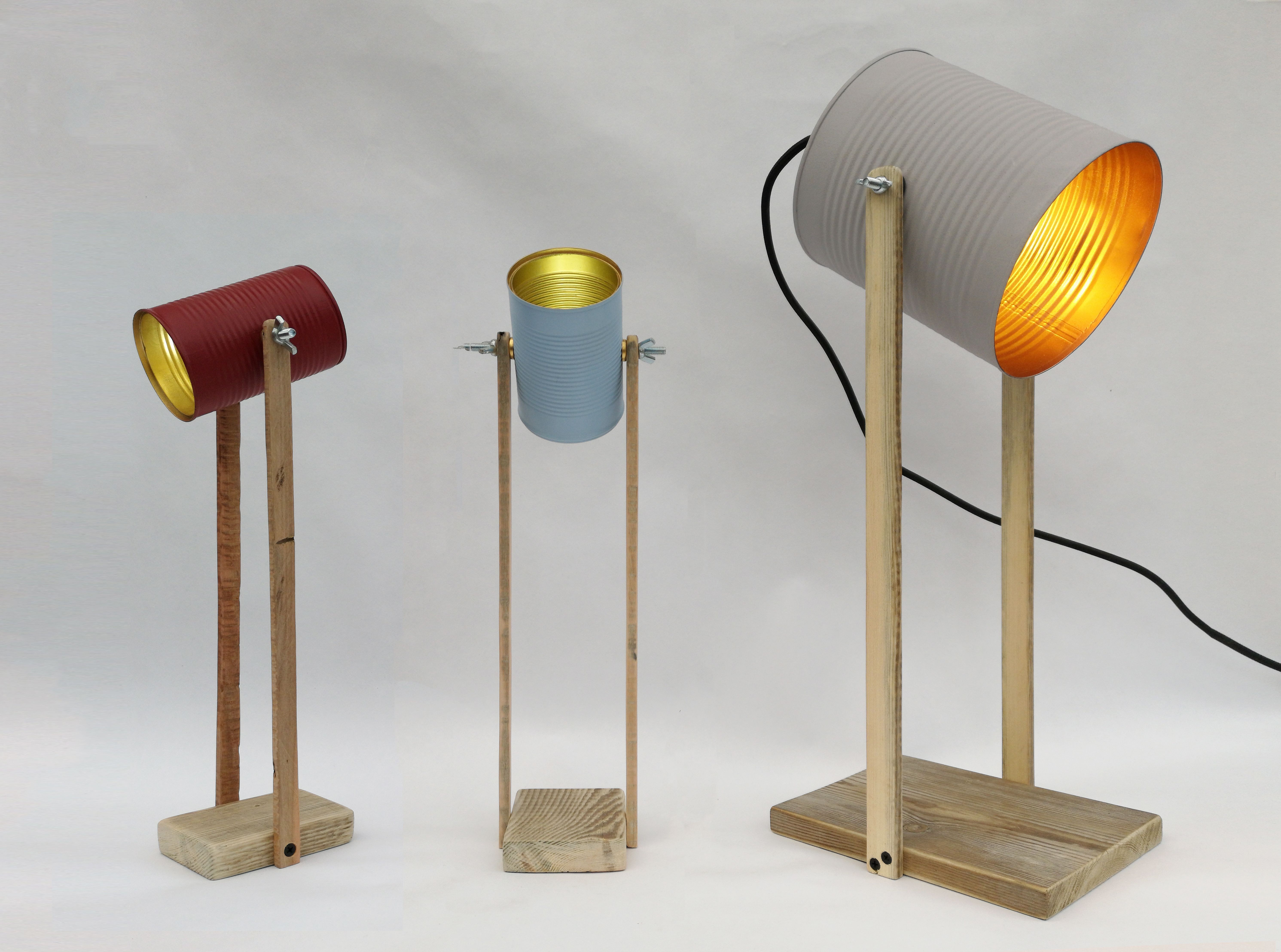 Our Collection Of Handmade Eco Lamps Made From Tin Cans And Reclaimed Timber Lamp Reclaimed Timber Tin Can
