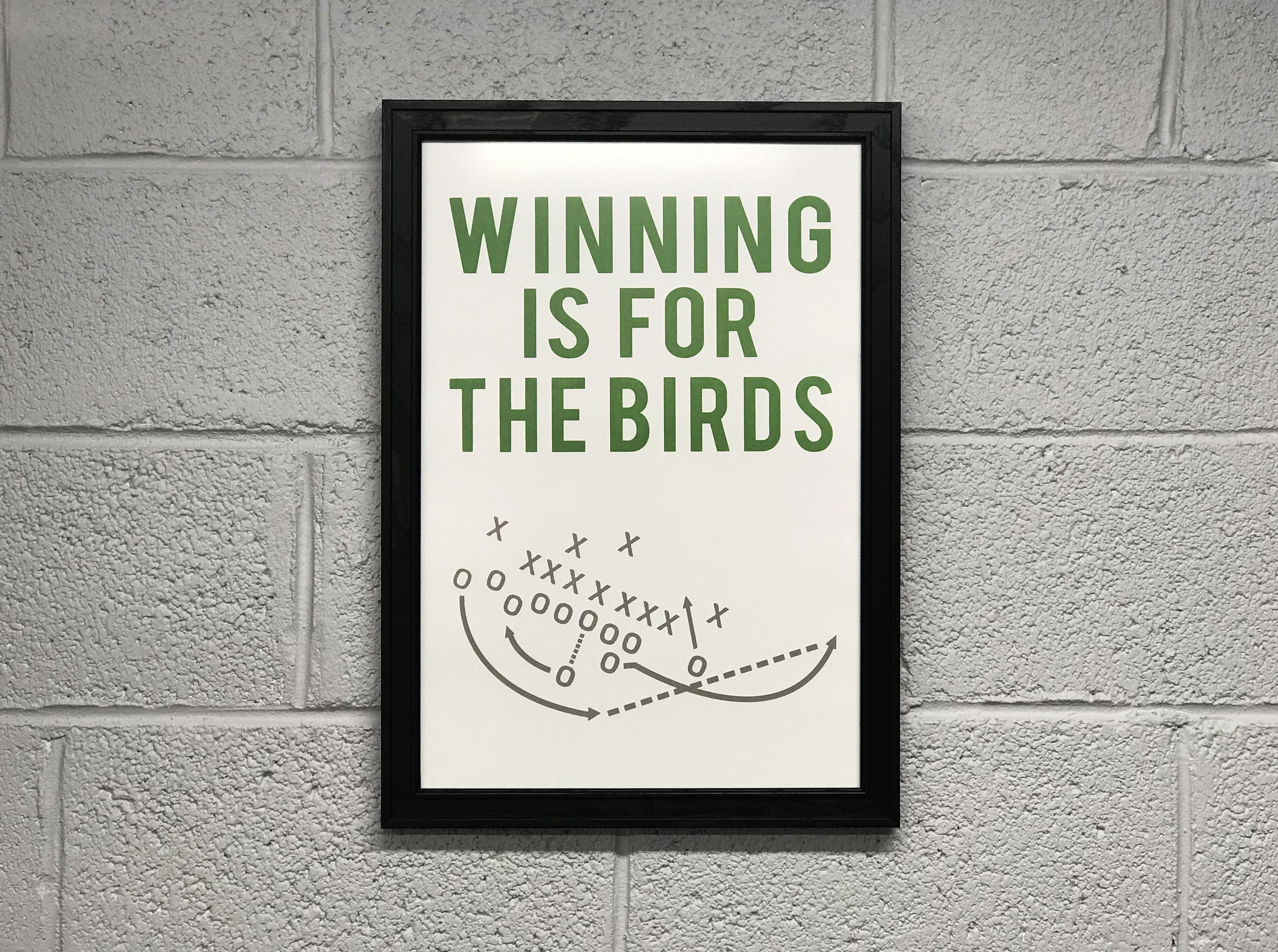 Philly Special Poster Winning Is For The Birds Art Print 13x19 Bird Art Print Philadelphia Eagles Art Retro Art Prints