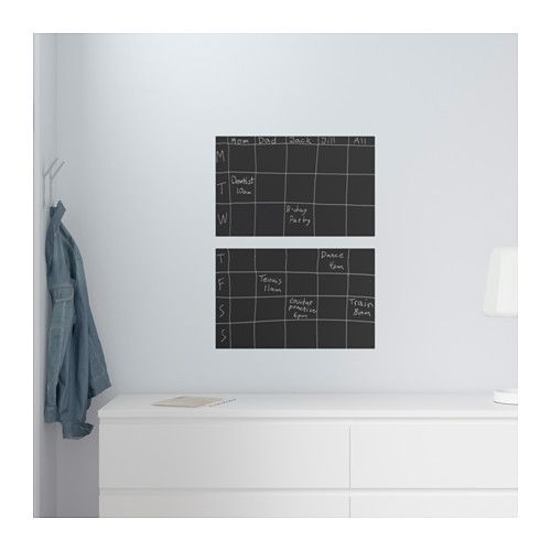Kreidetafel Ikea klätta aufkleber kreidetafel decorative stickers ikea hack and