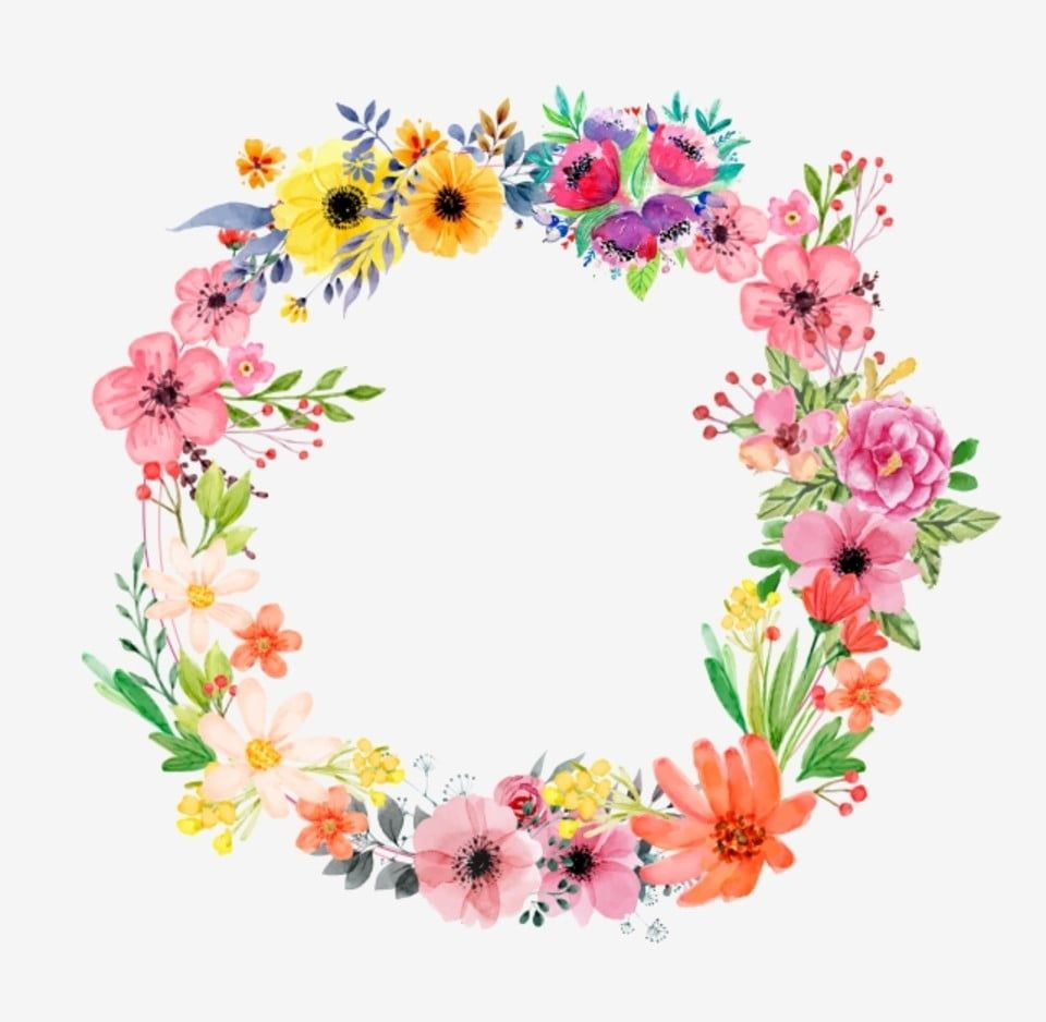 Fresh Flowers Leaves Watercolor Flower Floral Border Leaf Floral Border Wreath Png And Vector With Transparent Background For Free Download In 2020 Floral Border Floral Border Design Floral Wreaths Illustration