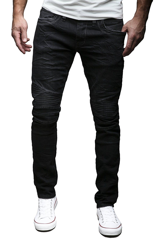 MERISH Herren Jeanshose Chino SLIM FIT Jeans Hose 4 Farben Neu Style Trend  J1166 Schwarz 31 0da275e981