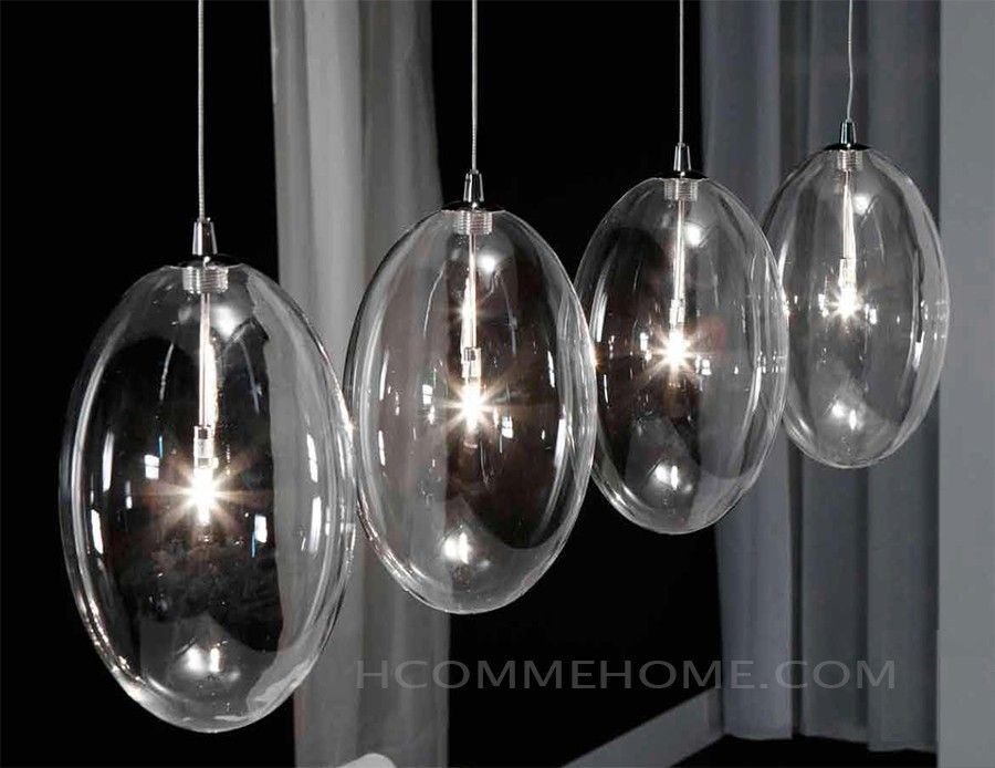 349 luminaire suspension design en verre kalo luminaires for Luminaire suspension boule