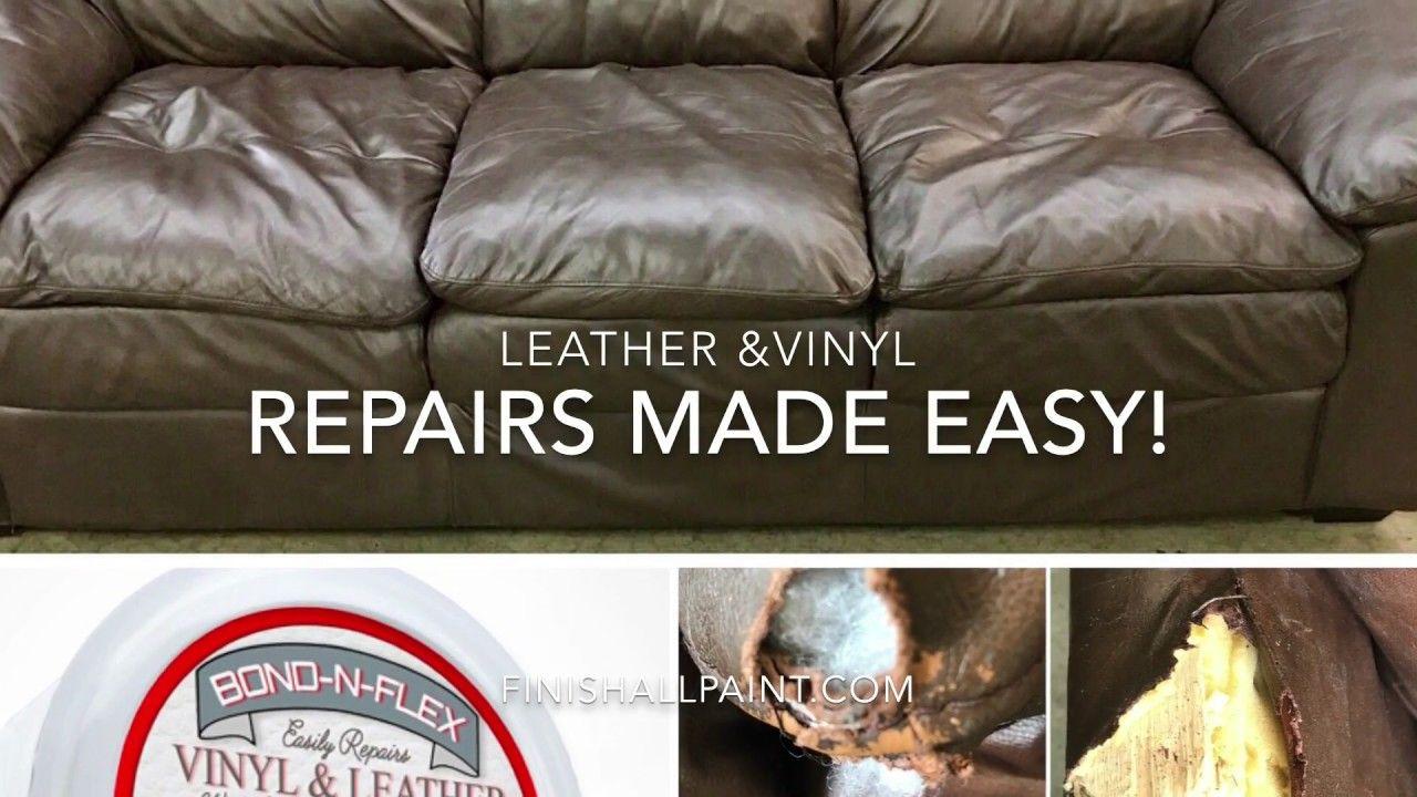 Repairs Made Easy Leather Vinyl Repairs Peeling Splitting Cracking Youtube Vinyl Repair Leather Couch