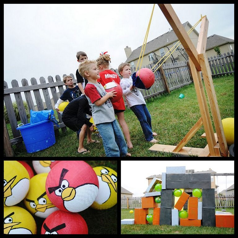 Angry Bird party and slingshot | Angry Birds Party | Pinterest ...