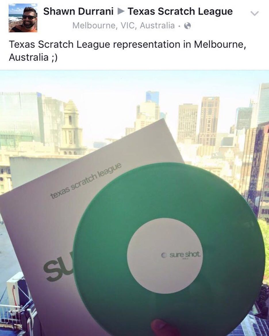 Thank you Australia! This is too cool! Check out TexasScratchLeague.com We ship world wide! #txscratchleague #turntablism #turntablist #practicecuts by txscratchleague http://ift.tt/1HNGVsC