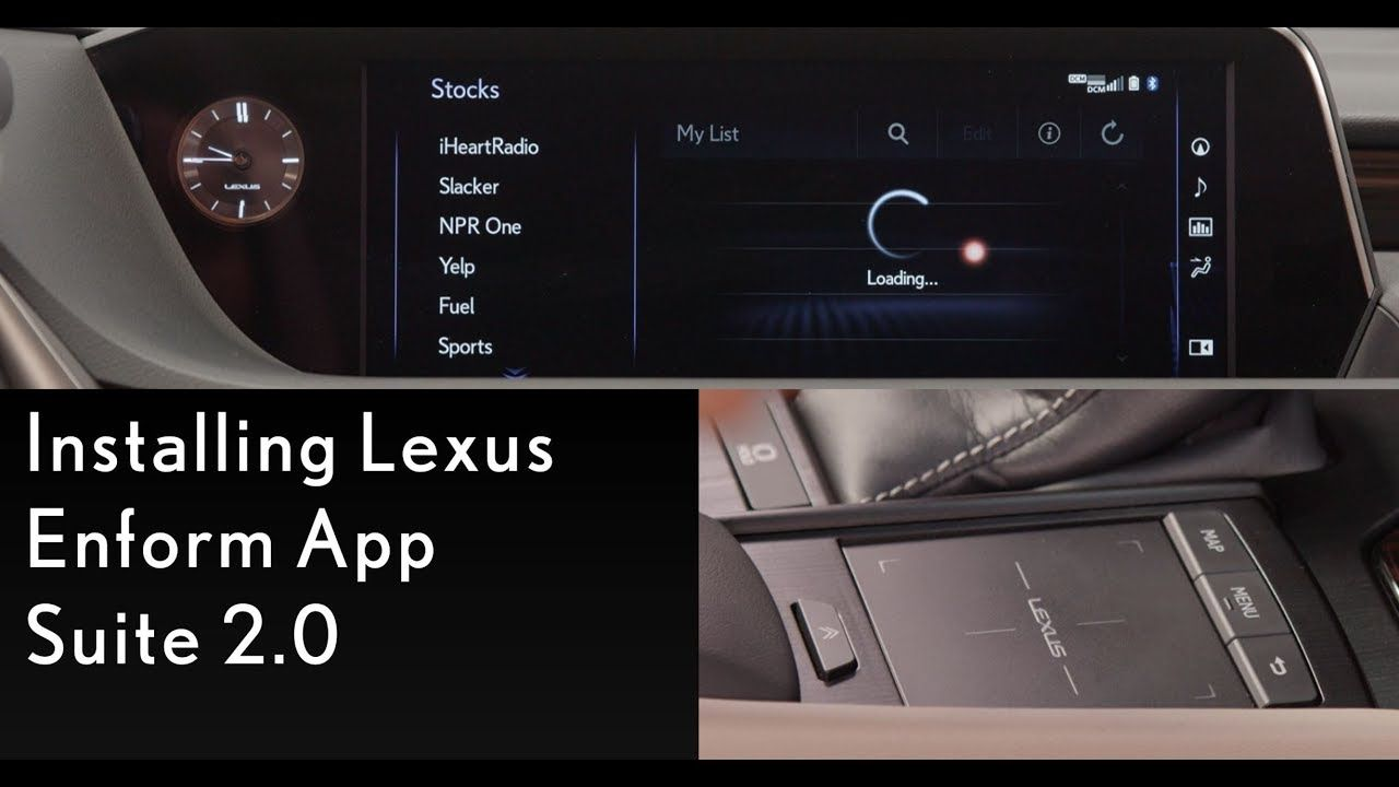 How To Install Lexus Enform App Suite 2 0 Lexus Lexus Installation Lexus Cars