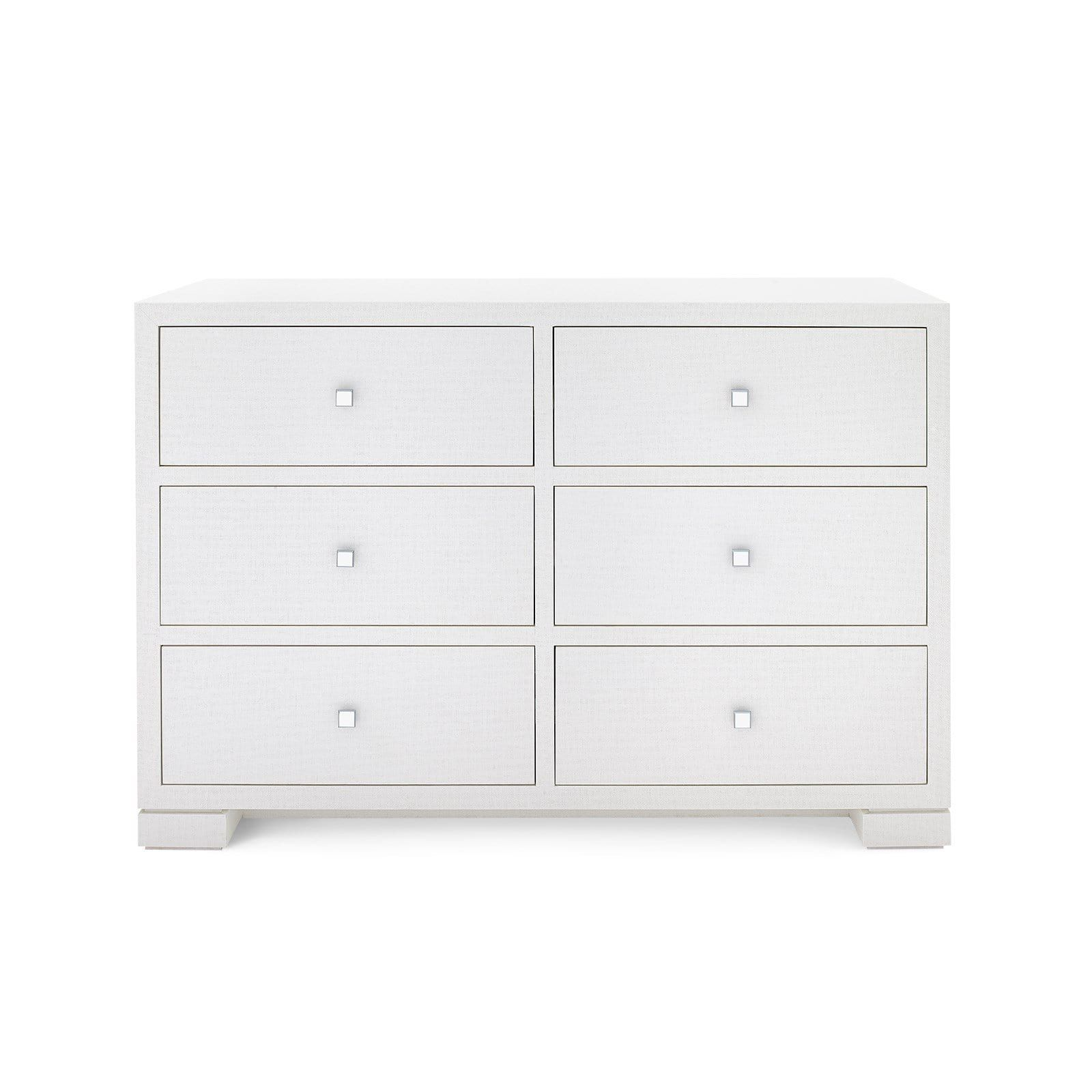Bungalow 5 Frances Large 6 Drawer Dresser White In 2021 White Lacquer Dresser Large Cabinet Grasscloth [ 1600 x 1600 Pixel ]