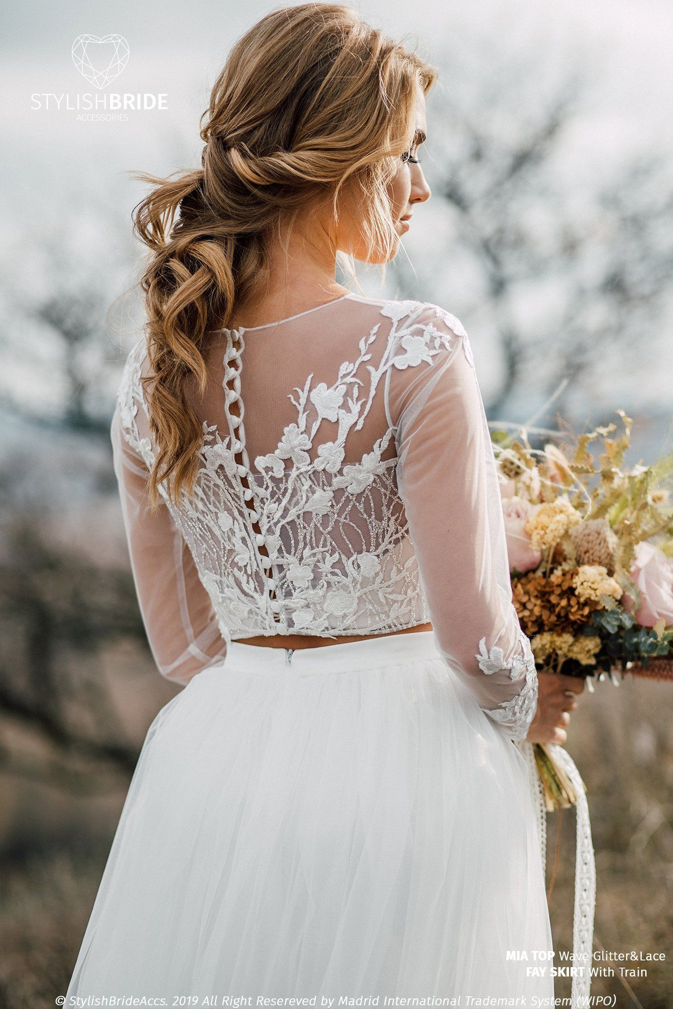 21++ Wedding dress topper long sleeve info