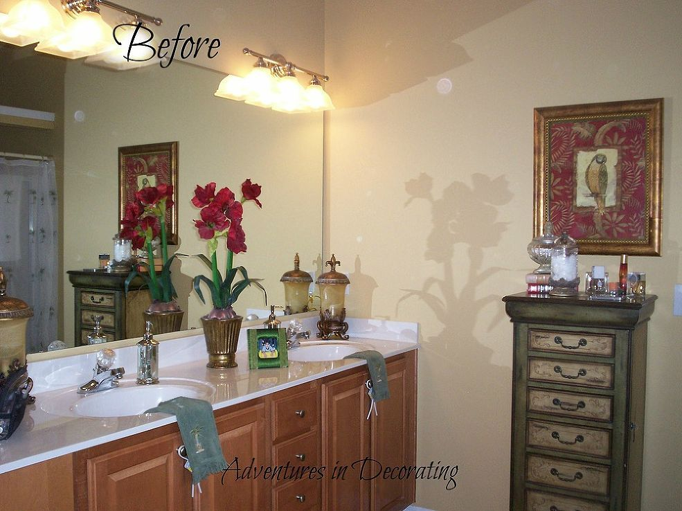 Our Master Bath ... Then and Now