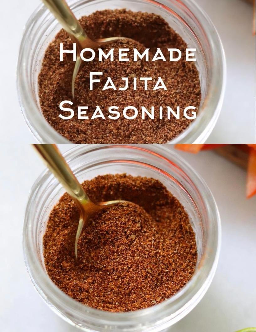 Homemade Fajita Seasoning - Sugar Free, Keto, Whol