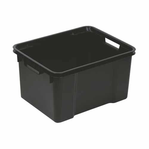 Ip Plastics Hobby Box 60 Litre Black Plastic Storage Multipurpose Storage Bottle Storage