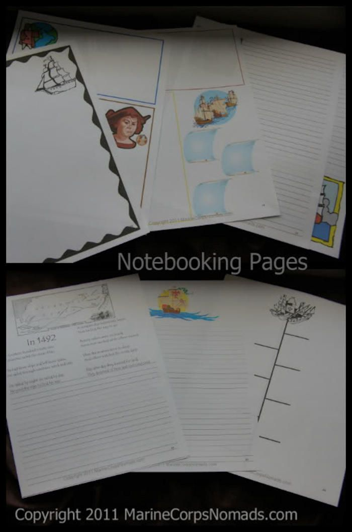 Christopher Columbus Lapbook and Notebook Study - Marine ...