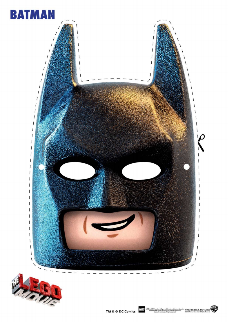 Free: The Lego Movie Coloring Pages, Lego Face Masks And Lego Movie  Valentine's Day