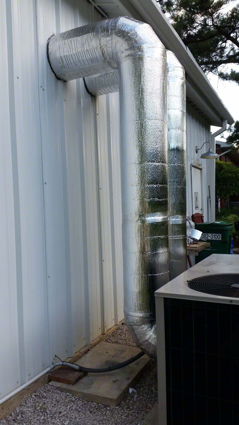 A Skillfully Completed Hvac Duct Wrap Project Sent In By One Of Our Amazing Customers This Setup Drama Foil Insulation Radiant Barrier Energy Efficient Homes