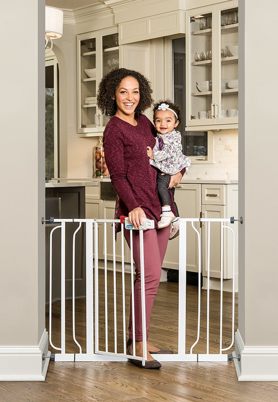 with Extensions Mount Fence Regalo Extra Wide Step Through Baby Gate 29-50 in