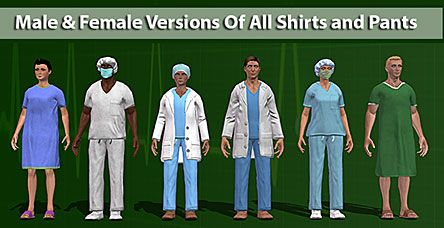 ModelShark Studio | Medical Clothing Pack for Mixamo Fuse