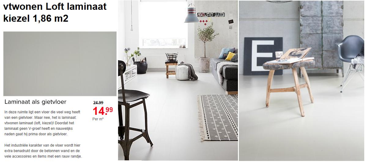 Vtwonen loft laminaat beton goedkope meubels goedkope meubels