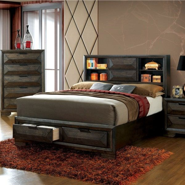 Overstock Com Online Shopping Bedding Furniture Electronics Jewelry Clothing More Headboard Storage Bookcase Headboard Contemporary Panel Bed