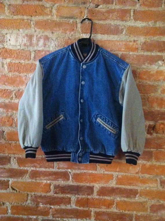 Vintage Gap Denim Varsity Jacket Gap Denim Varsity Jacket Jackets
