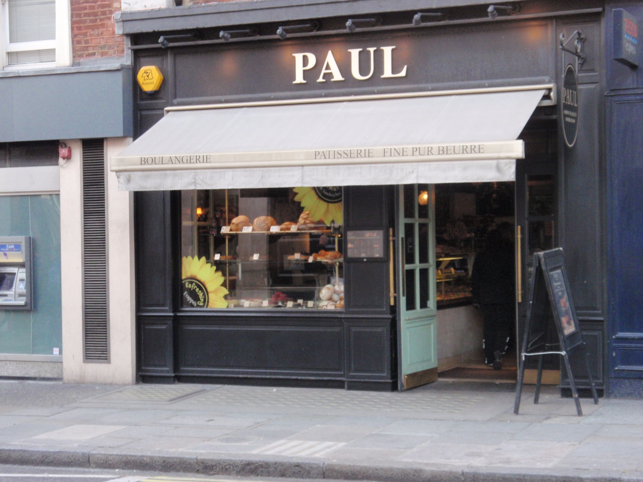paul's uk awning and exterior colour Coffee shop