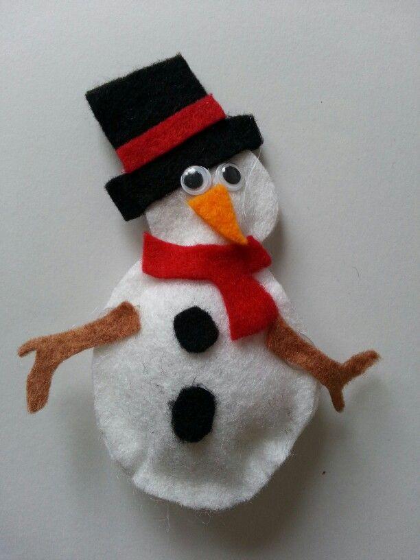 Felt Christmas Snowman