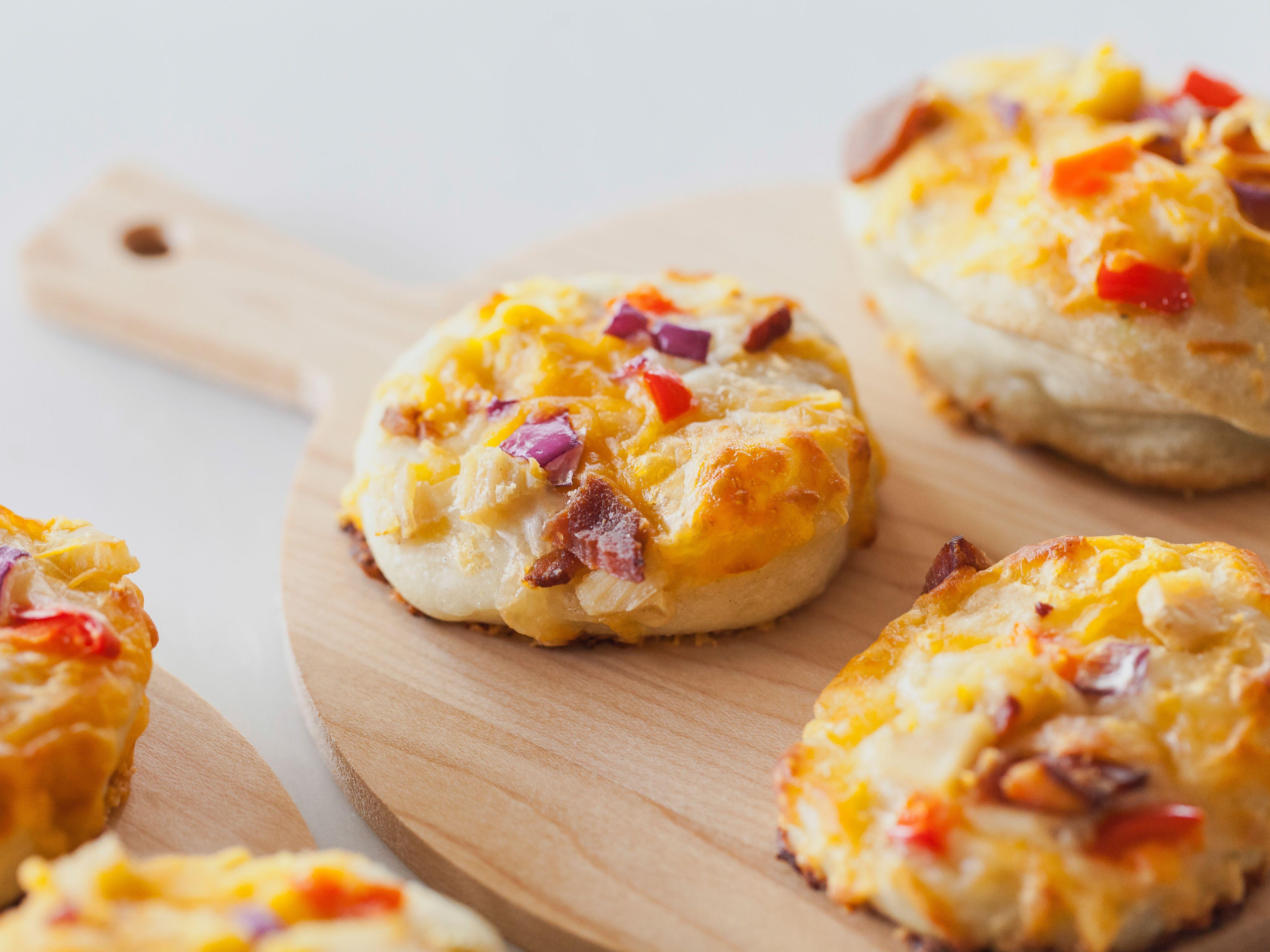 Mini chicken pizzas recipe trisha yearwood chicken pizza and main dishes mini chicken pizzas recipe trisha yearwood food network forumfinder Image collections