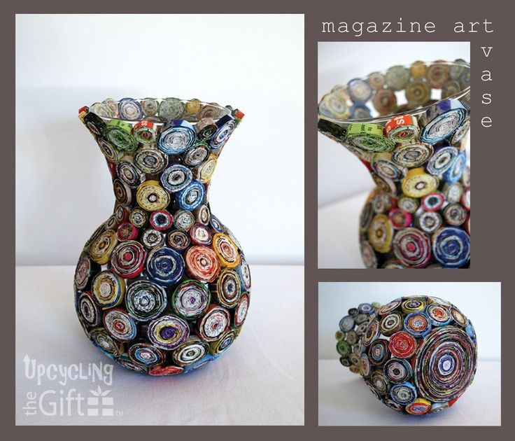 craft ideas with magazines | Magazine art vase | Craft Ideas