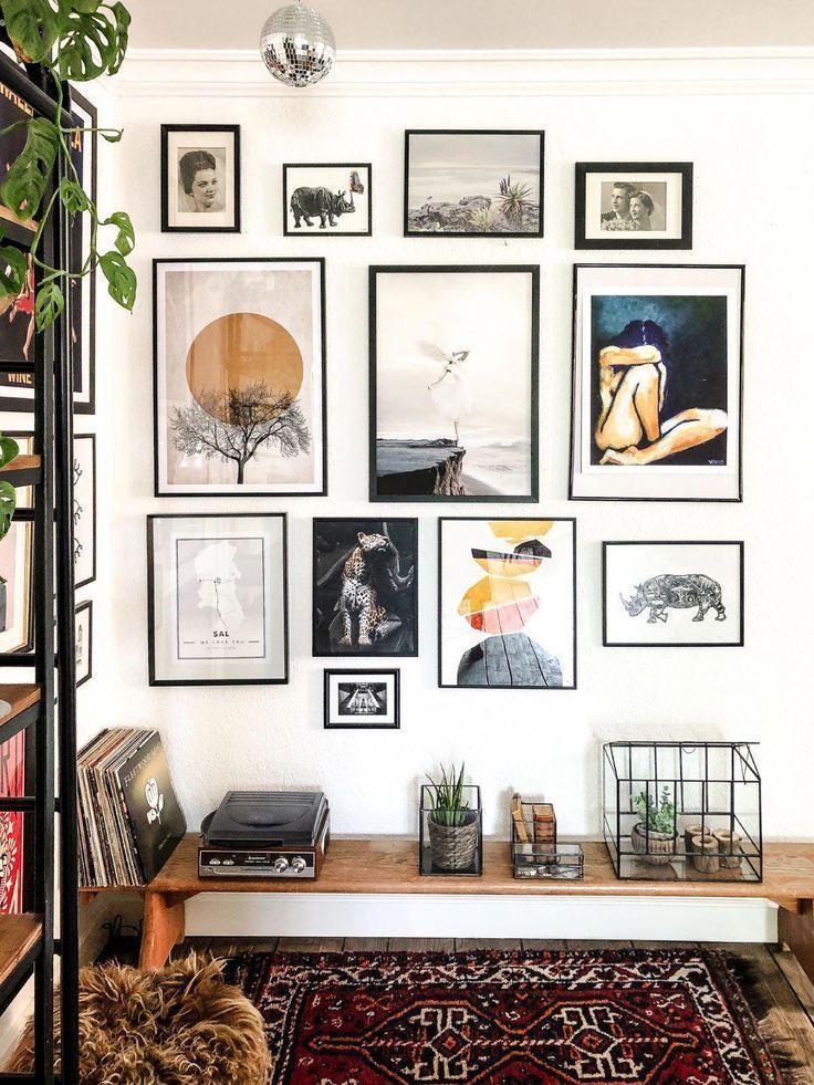 Galerie Wand-   So erstellen Sie eine Galeriewand #HomeDecorwall -  decoratingstyle.d...- - #decoratingstyle #erstellen #galerie #galeriewand #homedecorwall - #HomeDecorStyles #greykitcheninterior