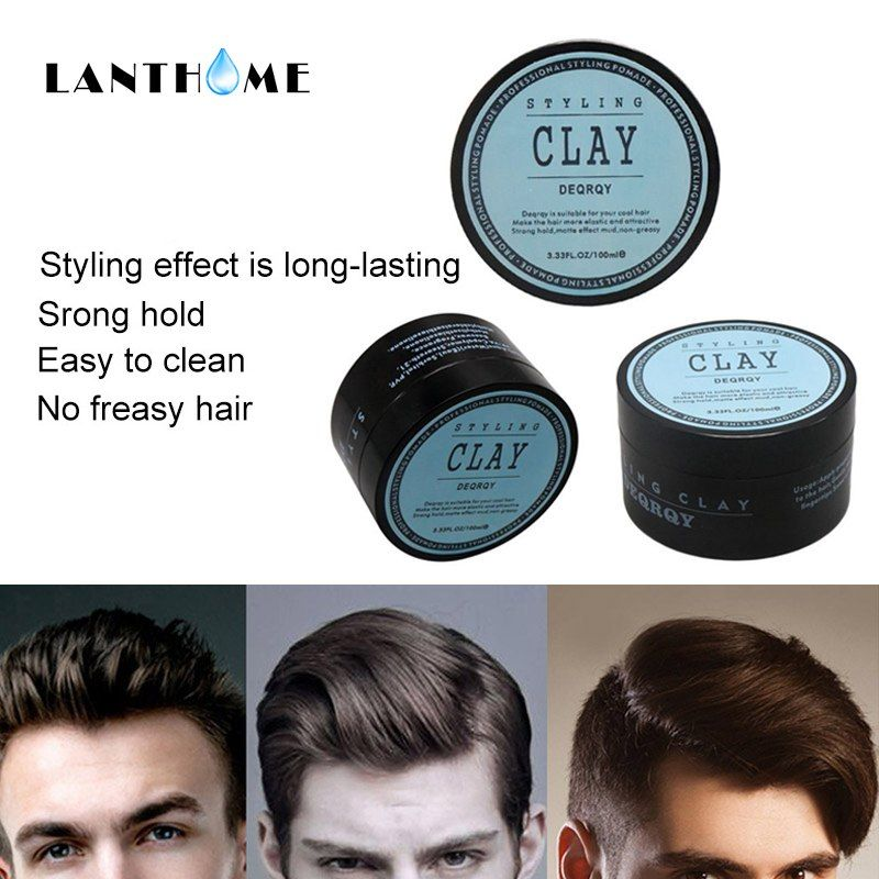 Clay Hair Wax Styling Pomade Gel For Hair Edge Control Fashion Matte Finished Hair Clay Men High Strong Hold Low Shine Daily Us Hair Gel For Men Hair Clay Hair