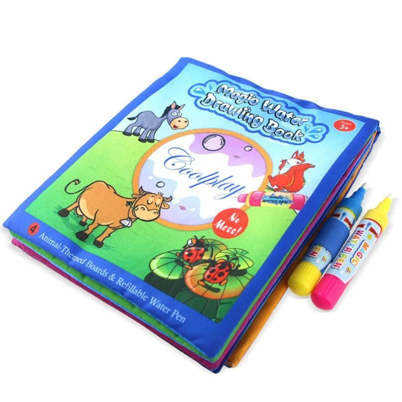 Kids Animals Painting Magic Water Drawing Coloring Book Educational Toys For Children Water Drawing Animals For Kids Coloring Books