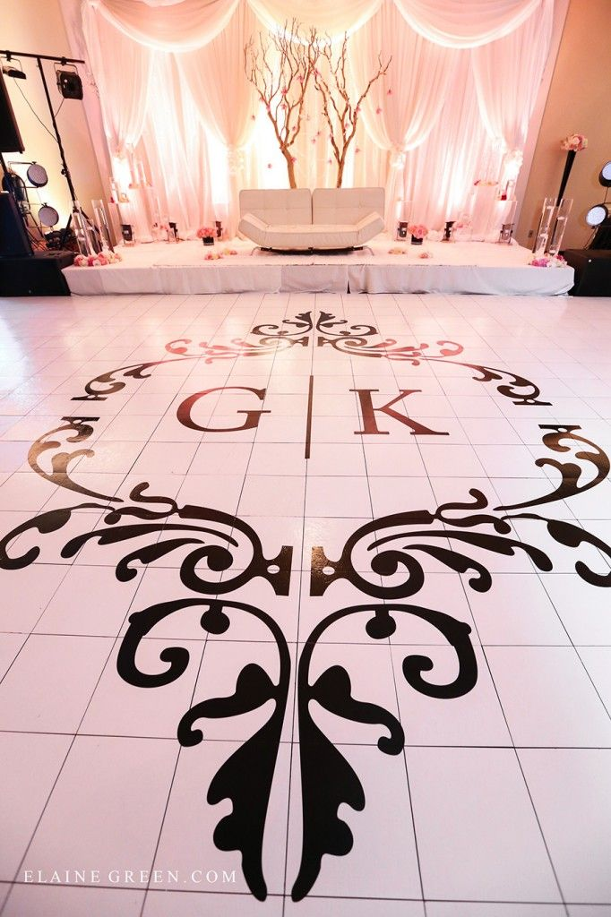 East indian wedding wedding reception tall centrepiece edmonton ...