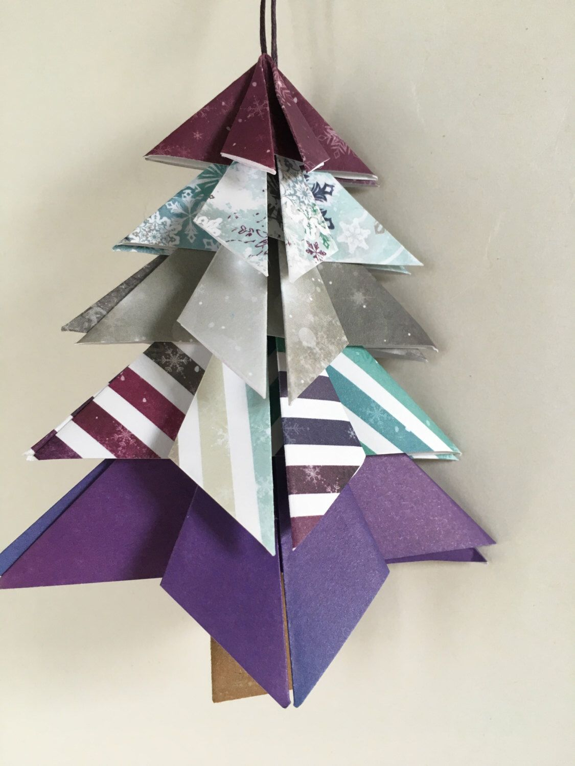 handmade paper christmas tree christmas ornament origami ornament by mossflowerabbey on etsy https - Handmade Paper Christmas Decorations