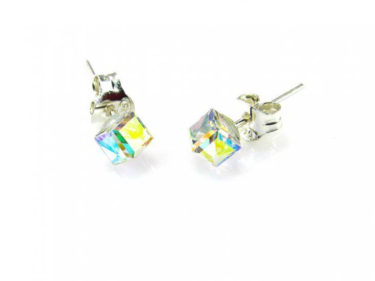 11d9b14dd20d  Pendientes cubo cristal Swarovski