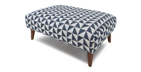 Zinc Pattern Large Footstool Zinc Pattern Dfs Large Footstools